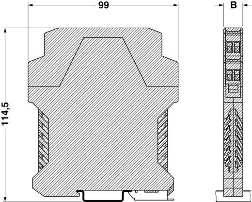 Hutschienen-Gehäuse Unterteil 99 x 12.5 Polyamid Grün Phoenix Contact ME 12,5 UT GN 1 St.