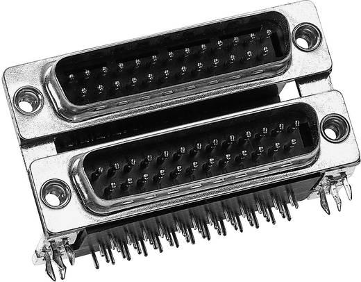 D-SUB Doppelstock-Steckverbinder 180 ° Polzahl: 9 Löten Provertha DP09S09SR4B 1 St.