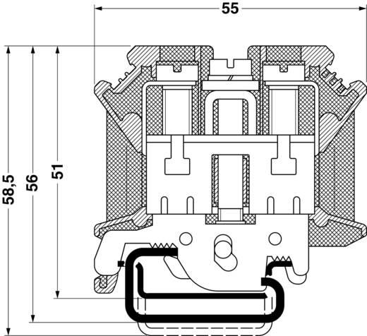 PE/N-Einspeiseblock UIK 35-PE/N Phoenix Contact Grün-Gelb, Blau Inhalt: 1 St.