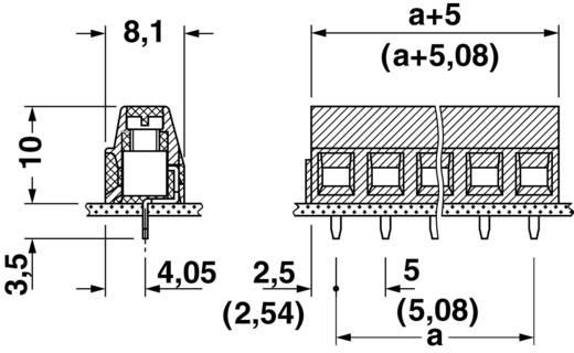 Schraubklemmblock 1.50 mm² Polzahl 5 MKDSN 1,5/ 5-5,08 Phoenix Contact Grün 1 St.