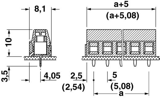 Schraubklemmblock 1.50 mm² Polzahl 9 MKDSN 1,5/ 9 Phoenix Contact Grün 1 St.