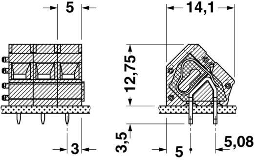 Federkraftklemmblock 1.50 mm² Polzahl 1 ZFKDS 1,5C-5,0 Phoenix Contact Grün 1 St.