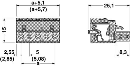 Buchsengehäuse-Kabel FKC Phoenix Contact 1873074 Rastermaß: 5.08 mm 1 St.