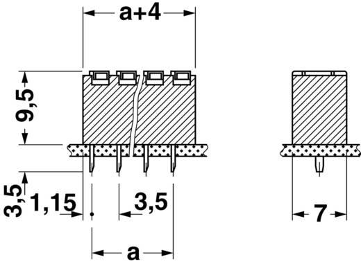 Federkraftklemmblock Polzahl 4 FK-MPT 0,5/ 4-3,5 Phoenix Contact Grün 1 St.