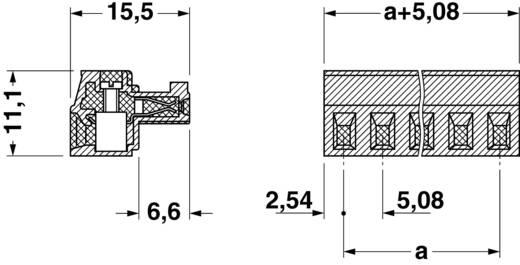 Phoenix Contact Buchsengehäuse-Kabel MC Polzahl Gesamt 8 Rastermaß: 5.08 mm 1836134 1 St.