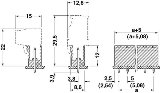 Stiftgehäuse-Platine MSTBV Polzahl Gesamt 2 Phoenix Contact 1758018 Rastermaß: 5.08 mm 1 St.