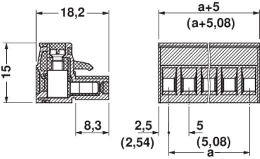 Phoenix Contact Buchsengehäuse-Kabel MSTB Polzahl Gesamt 6 Rastermaß: 5 mm 1754520 1 St.