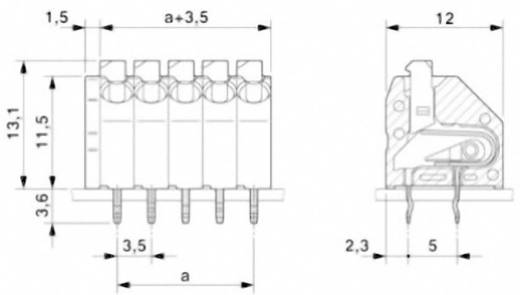 Federkraftklemmblock 1.50 mm² Polzahl 10 PTSA 1,5/10-3,5-Z Phoenix Contact Grün 1 St.