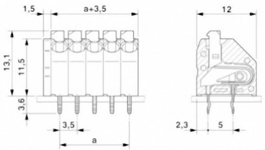 Federkraftklemmblock 1.50 mm² Polzahl 12 PTSA 1,5/12-3,5-Z Phoenix Contact Grün 1 St.