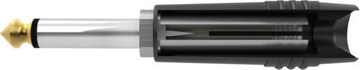 Klinken-Steckverbinder 6.35 mm Stecker, gerade Polzahl: 2 Mono Schwarz Hicon HI-J63TC-SM 1 St.