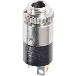 Jack konektor 3.5 mm stereo zásuvka, vstavateľná vertikálna Hicon HI-J35SEF, pinov 3, strieborná, 1 ks