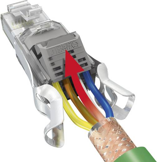 Sensor-/Aktor-Datensteckverbinder Stecker, gerade Polzahl: 8 Phoenix Contact 1417016 VS-08-RJ45-5-Q/IP20 TIA568A 1 St.