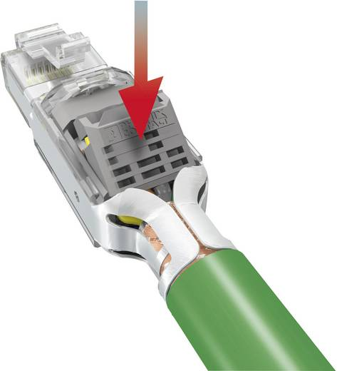 Sensor-/Aktor-Datensteckverbinder Stecker, gerade Polzahl (RJ): 4 Phoenix Contact 1658435 VS-PN-RJ45-5-Q/IP20 1 St.