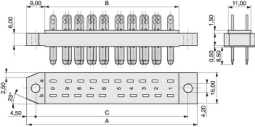 Messerleiste 383-1-012-SBN-ZS Gesamtpolzahl 12 Anzahl Reihen 2 MPE Garry 20 St.