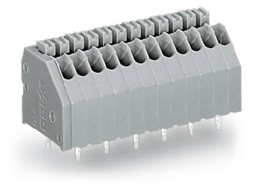 Federkraftklemmblock 0.50 mm² Polzahl 8 WAGO Grau 200 St.