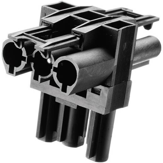 Netz-Verteiler Netz-Stecker - Netz-Buchse, Netz-Buchse Gesamtpolzahl: 2 + PE Schwarz Adels-Contact AC 166 GVT 3/ 3 1 St