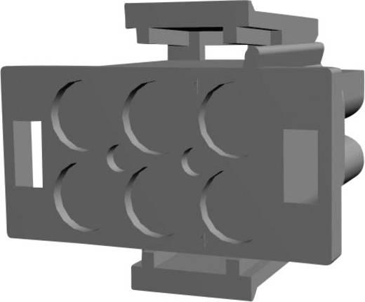 Stiftgehäuse-Kabel Universal-MATE-N-LOK Polzahl Gesamt 6 TE Connectivity 1-480704-0 Rastermaß: 6.35 mm 1 St.