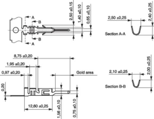 Stiftkontakt BLC MPE Garry 605-1-TX-XR Rastermaß: 3 mm 10000 St.