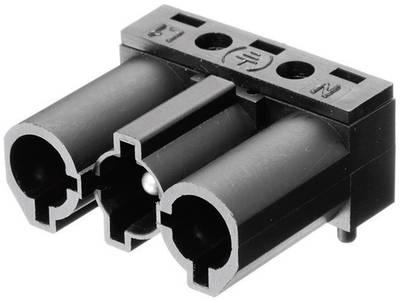 Connettore di alimentazione AC Serie: AC Poli totale: 2 + PE 16 A Bianco Adels-Contact AC 166 GSTLH/ 3 1 pz. Spina angol
