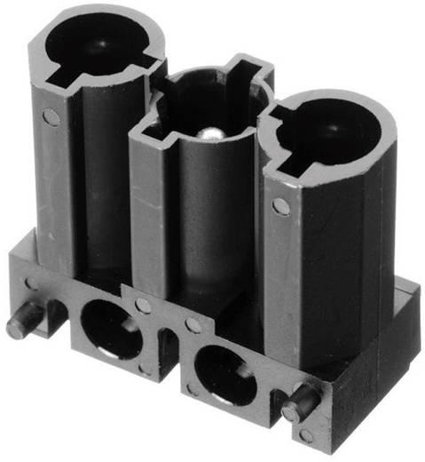 Netz-Steckverbinder Serie (Netzsteckverbinder) AC Stecker, gerade Gesamtpolzahl: 2 + PE 16 A Schwarz Adels-Contact AC 1