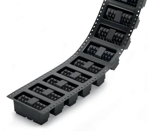 Federkraftklemmblock 1.50 mm² Polzahl 7 250-207/353-604/997-406 WAGO Schwarz 160 St.