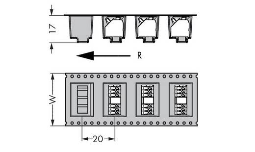 Federkraftklemmblock 1.50 mm² Polzahl 7 WAGO Schwarz 160 St.