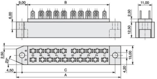 Federleiste 384-1-020-HBN-ZS Gesamtpolzahl 20 Anzahl Reihen 2 MPE Garry 20 St.