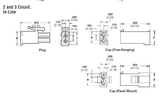 TE Connectivity 794894-1 Stiftgehäuse-Kabel Universal-MATE-N-LOK Polzahl Gesamt 2 Rastermaß: 4.14 mm 1 St.