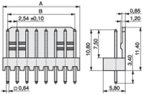 MPE Garry Stiftleiste (Präzision) STL Polzahl Gesamt 8 Rastermaß: 2.54 mm 428-1-008-0-T-KS0 1000 St.