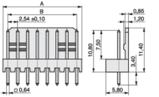 Stiftleiste (Präzision) STL Polzahl Gesamt 8 MPE Garry 428-1-008-0-T-KS0 Rastermaß: 2.54 mm 1000 St.
