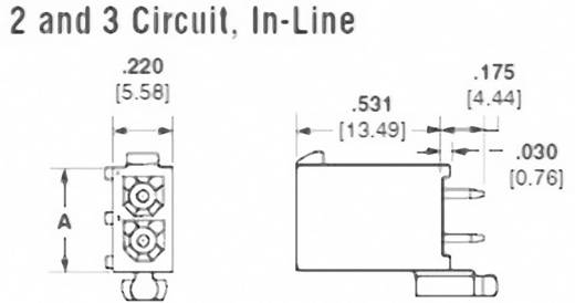 Stiftgehäuse-Platine Mini-Universal-MATE-N-LOK Polzahl Gesamt 2 TE Connectivity 1-770872-1 Rastermaß: 4.14 mm 1 St.