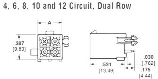 Stiftgehäuse-Platine Mini-Universal-MATE-N-LOK Polzahl Gesamt 4 TE Connectivity 1-770174-1 1 St.