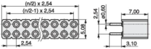 Buchsenleiste (Präzision) Anzahl Reihen: 2 Polzahl je Reihe: 10 MPE Garry 115-3-020-0-MTF-XS0 300 St.