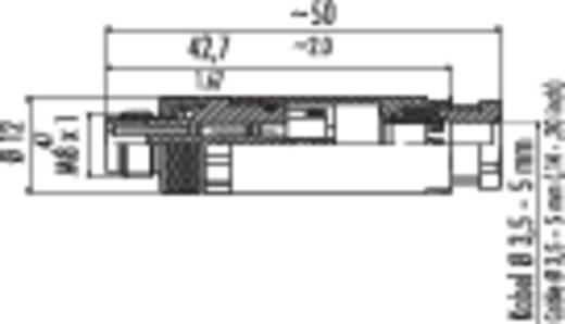 Sensor-/Aktor-Steckverbinder, unkonfektioniert M8 Stecker, gerade Polzahl: 4 Binder 99-3383-100-04 20 St.