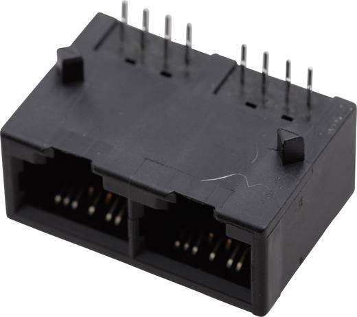 Modulare Einbaubuchse Multiport ohne Flansch Buchse, Einbau horizontal Pole: 8P8C SS-718802-NF Vernickelt, Metall BEL S