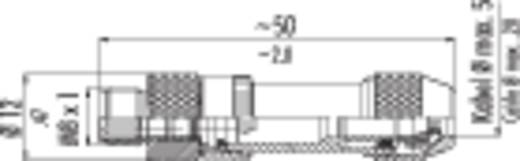 Binder 99-3363-00-04 Sensor-/Aktor-Steckverbinder, unkonfektioniert M8 Stecker, gerade Polzahl: 4 20 St.