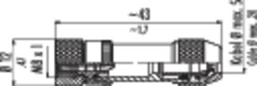 Sensor-/Aktor-Steckverbinder M8, Schraubverschluss, gerade Pole: 4 99-3362-00-04 Binder Inhalt: 1 St.