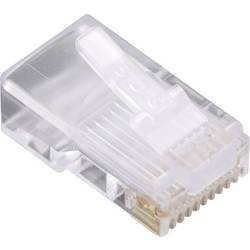 Image of BEL Stewart Connectors 1400-1000-06 Modular-Stecker für Rundkabel 1400-1000-06 Stecker, gerade Pole: 10P10C Glasklar 1