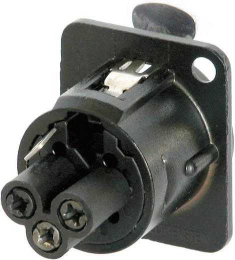 XLR-Steckverbinder Flanschbuchse, Kontakte gerade Polzahl: 3 Schwarz Neutrik NC3FD-S-B-1 1 St.