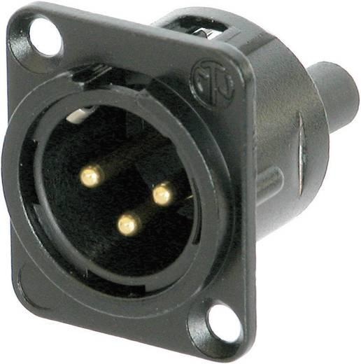 XLR-Steckverbinder Flanschstecker, Kontakte gerade Polzahl: 3 Schwarz Neutrik NC3MD-S-B-1 1 St.