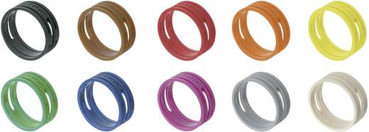 Kodierring Neutrik XXR-SET/MIX Schwarz, Braun, Rot, Orange, Gelb, Grün, Blau, Violett, Grau, Weiß 10 St.