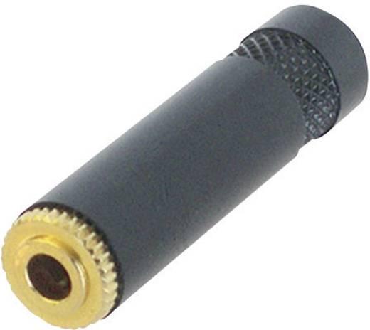 Klinken-Steckverbinder 3.5 mm Buchse, gerade Polzahl: 3 Stereo Schwarz Rean AV NYS 240 BG 1 St.