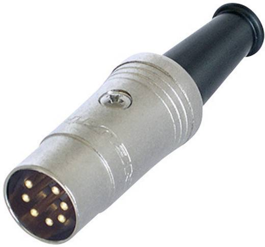 DIN-Rundsteckverbinder Stecker, gerade Polzahl: 7 Schwarz Rean NYS323G 1 St.
