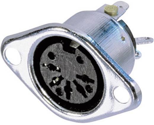 DIN-Rundsteckverbinder Flanschbuchse, Kontakte gerade Polzahl: 3 Silber Neutrik NYS324 1 St.