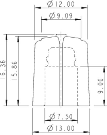Drehknopf Schwarz/Rot (Ø x H) 13 mm x 16.63 mm Rean F 313 S 092 1 St.