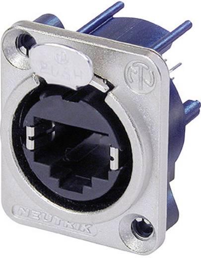 RJ45 Datensteckverbinder etherCon® D Serie Buchse, gerade NE8FDV Pole: 8P8C NE8FDV Nickel Neutrik NE8FDV 1 St.