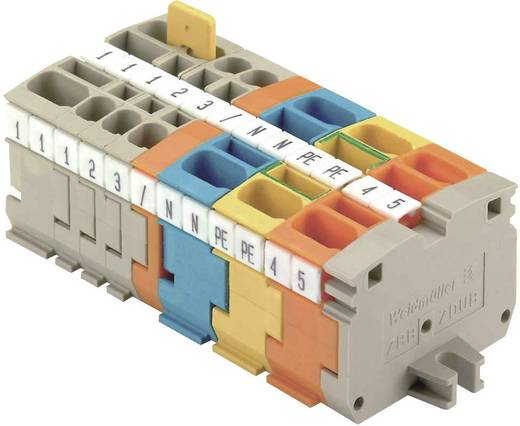 Mini - Reihenklemmen ZDUB ZDUB 2.5-2/2AN/DB GE 1704530000 Grün-Gelb Weidmüller 1 St.