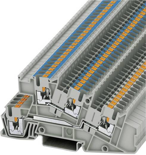 Push-In Dreistock-Installationsklemmen PTI PTI 2,5-L/N Phoenix Contact Grau Inhalt: 1 St.