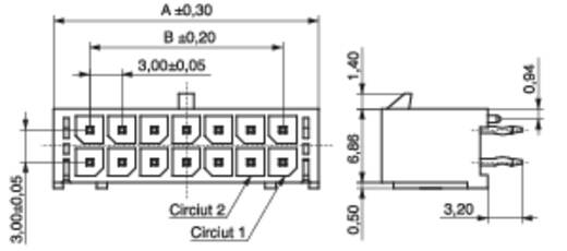 Stiftleiste (Standard) Anzahl Reihen: 2 Polzahl je Reihe: 6 MPE Garry 435-2-012-1-T-KS0 224 St.