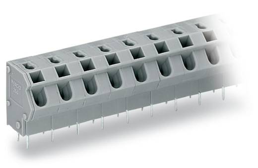 Federkraftklemmblock 1.50 mm² Polzahl 9 WAGO Grau 60 St.